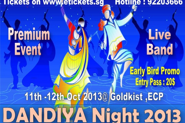 Dandiya in Singapore 2013 with live band at ECP