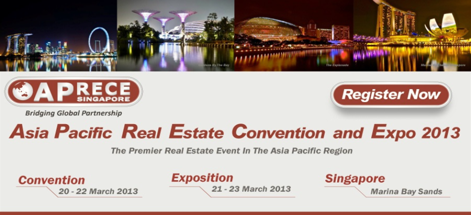 asia pacific real estate convention and expo 2013 featuring Indian Property developers along with regional real estate industry