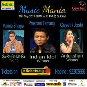 Indian idol prashat tamang live on 28 sep 2013
