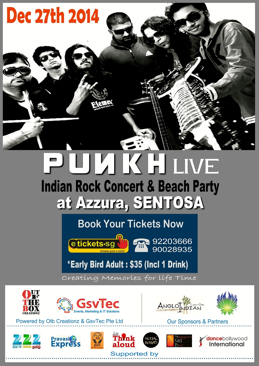 Punkh live an Indian Rock concert and beach party