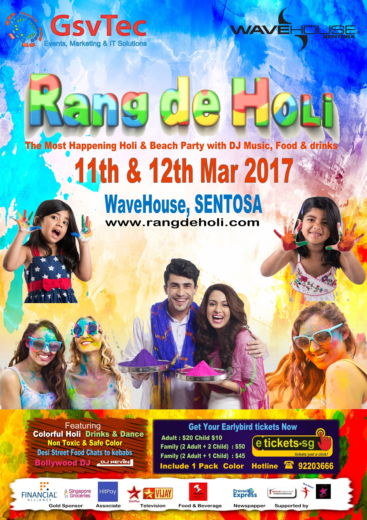 most happening holi event in singapore