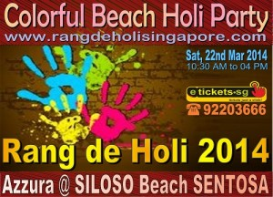 holi at the beach